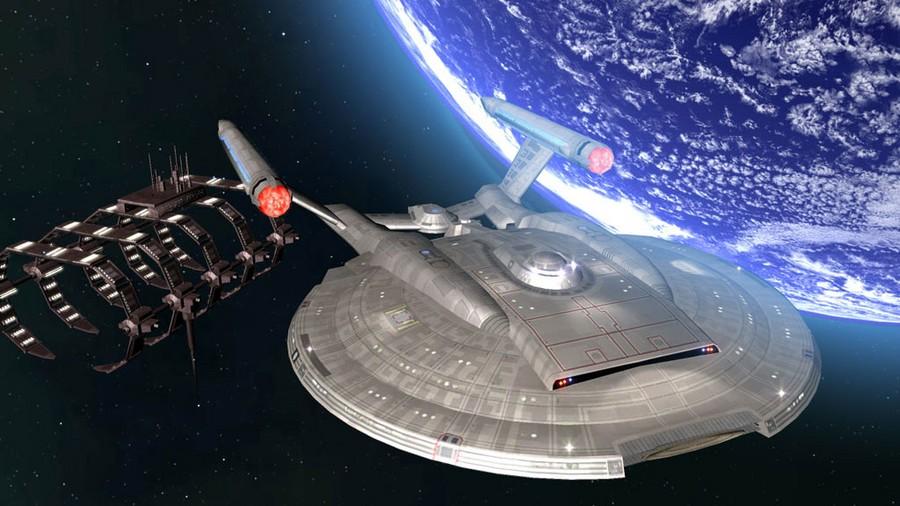 Resultado de imagen de La Nave enterprise superando la velocidad de la luz